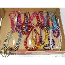 LARGE FLAT OF ASSORTED NECKLACES