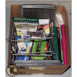 OFFICE SUPPLIES- BOX LOT ASSORTED
