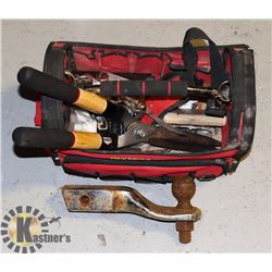 OLYMPIA TOOL BAG WITH TOOLS AND TOWING