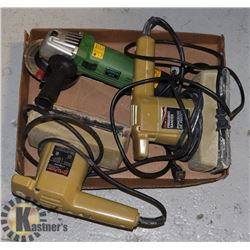 FLAT OF POWER TOOLS INCLUDING SANDERS AND GRINDER