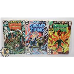 3 SAGA OF THE SWAMP THINGS COMICS