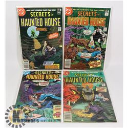 4 SECRETS OF THE HAUNTED HOUSE COMICS