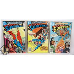 THREE 40 CENT SUPERMAN COMICS