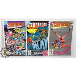 3 VINTAGE SUPERGIRL COMICS