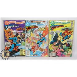 3 DC COMICS PRESENTS SUPERMAN COMICS
