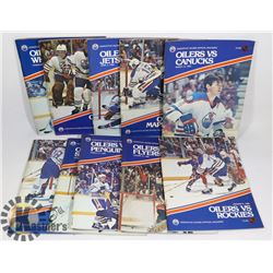 TEN 1982 EDMONTON OILERS PROGRAMS