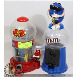 M & M CANDY DISPENSER AND JELLY BELLY DISPENSER