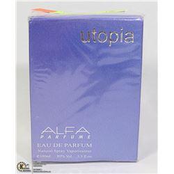 UTOPIA  ALFA EAU DE PARFUME, 3.3FL OZ, MADE IN