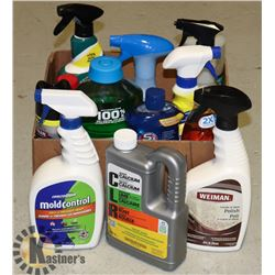 HOUSEHOLD CLEANING PRODUCTS- BOX LOT
