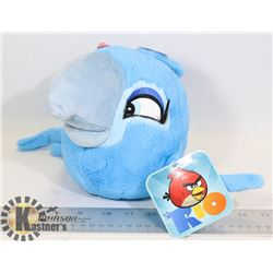 LARGE ANGRY BIRDS RIO PLUSH TOY NEW