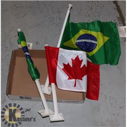 BRAZIL AND CANADA FLAGS