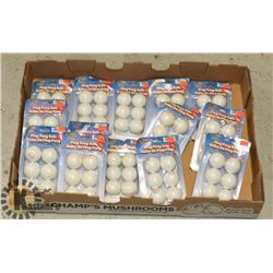 FLAT OF NEW PING PONG BALLS