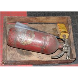 VINTAGE FIRE EXTINGUISHER W/BOX