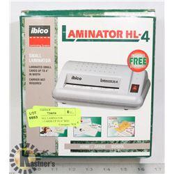 "IBICO SMALL LAMINATOR MACHINE- CARDS UP TO 4"" WID"