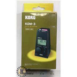 KORG DIGITAL METRONOME- MODEL # KDM-3-BK