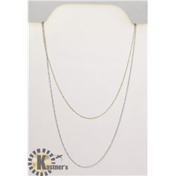 #113-STERLING SILVER NECKLACE 2pcs/18""