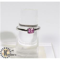 #180-PINK SAPPHIRE RING SIZE 7.5
