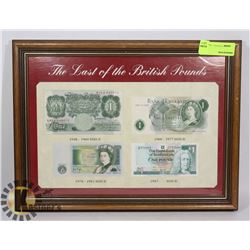 "FRAMED DISPLAY ""THE LAST OF THE BRITISH POUNDS"""