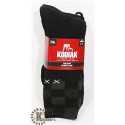2PK OF KODIAK WOOL BLEND SOCKS; SIZE L/G
