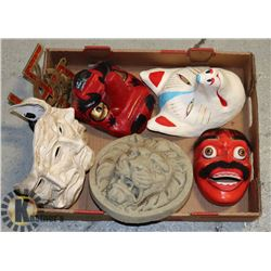 ESTATE FLAT OF MASKS AND HOME DECOR