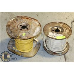 TWO PARTIAL ROLLS OF HOUSEHOLD ELECTRICAL WIRE