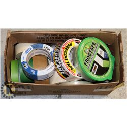 PAINTERS TAPE & PACKING TAPE- BOX LOT 12+ ROLLS