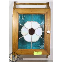 MEDICINE CABINET WITH STAINED GLASS DOOR