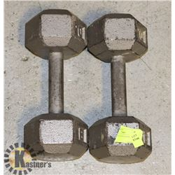 CAST IRON HEX WEIGHTS- 2 X 20 LB