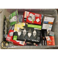 LIGHTBULBS- ASSORTED TOTE LOT