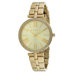 NEW MICHAEL KORS YELLOW GOLD TONE 34MM MSRP $300