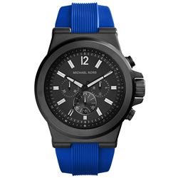 NEW MICHAEL KORS 3-CHRONO BLUE STRAP 48MM MSRP$345