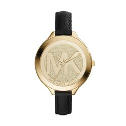 NEW MICHAEL KORS SLIM GOLD DIAL WATCH MSRP $309