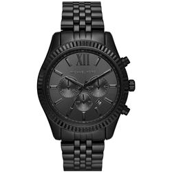NEW MICHAEL KORS BLACK MSRP $385 TRIPLE CHRONO