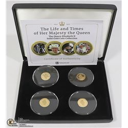 GOLD COIN SET OF 4