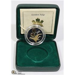 CANADIAN STERLING SILVER COIN GOLDEN TULIP