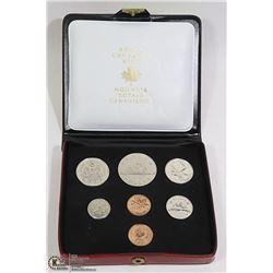 7 COIN SET CANADA 1972