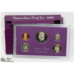 5 COIN PROOF SET 1985