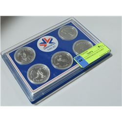 5 COIN COMMONWEALTH GAMES SET