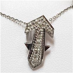 25) 18KT WHITE GOLD FANCY CUT DIAMOND SET PENDANT