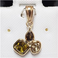 44) 14KT YELLOW GOLD FANCY CUT & COLORED DIAMOND