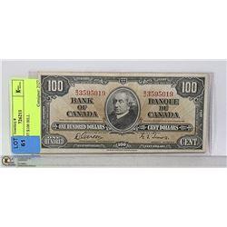 CAD 1937 $100 BILL