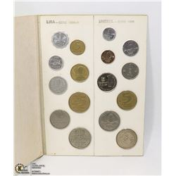 FOLDER WITH COINS FROM THE HOLY LAND