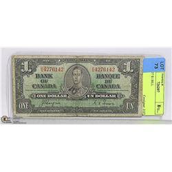 CAD 1937 $1 BILL