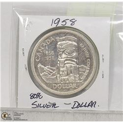 1958 TOTEM POLE SILVER DOLLAR