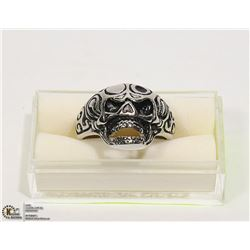 NEW MOUTH OPEN SKULL FACE RING - SIZE 12 -