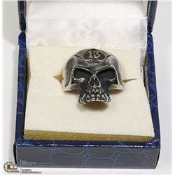 NEW SKULL FACE RING WITH #13 ON