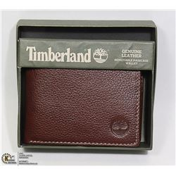 NEW GENUINE LEATHER TIMBERLAND MEN'S WALLET