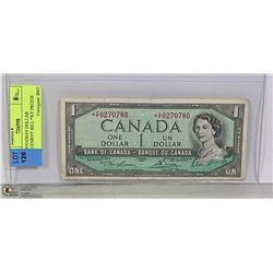 1954 CANADIAN DOLLAR REPLACEMENT BILL *X/F PREFIX
