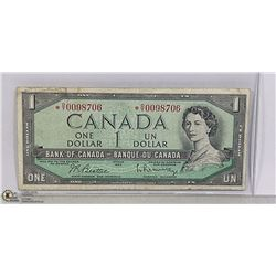 1954 CANADIAN DOLLAR REPLACEMENT BILL *O/Y PREFIX