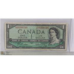 1954 CANADIAN DOLLAR REPLACEMENT BILL *A/A PREFIX